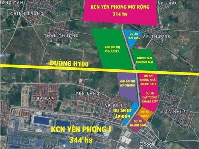Yên Phong - Bắc Ninh đang có những dự án Bất Động Sản nào?