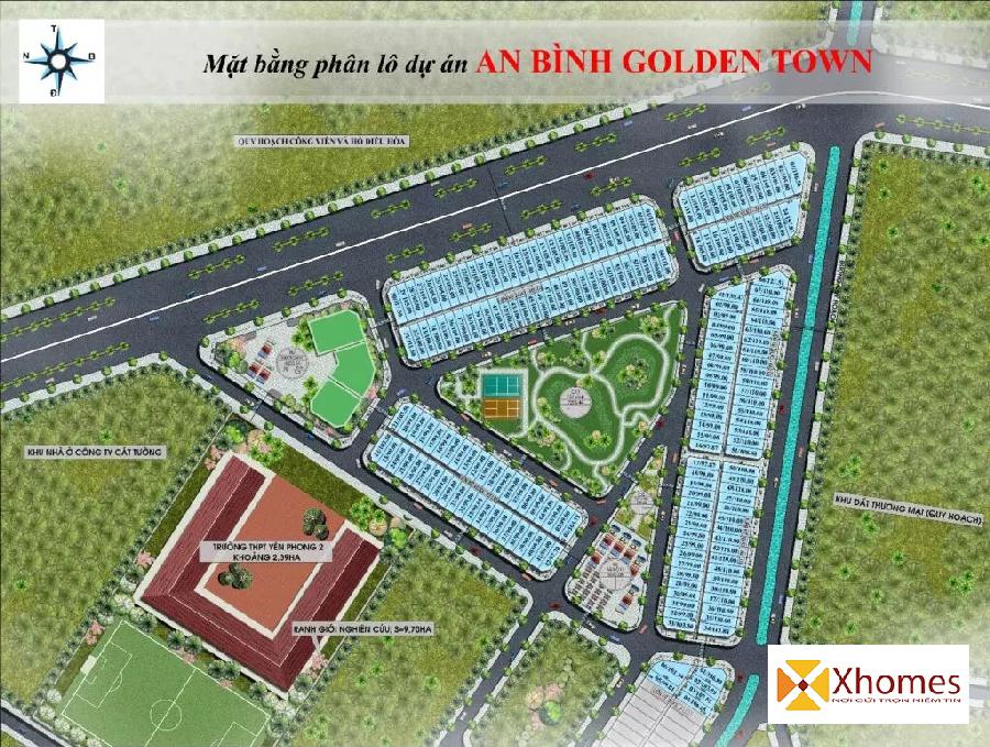 Mặt bằng phân lô dự án An Bình Golden Town Yên Phong - Bắc Ninh