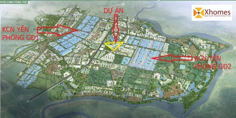 Vị trí dự án An Bình Golden Town Yên Phong - Bắc Ninh