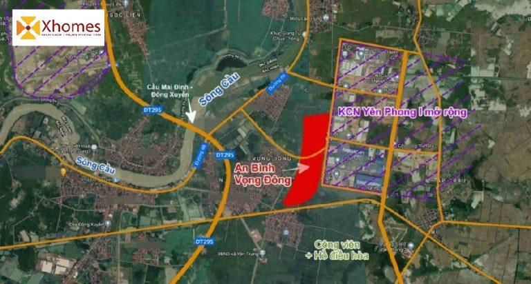 Vị trí Dự án An Bình Vọng Đông tại Bắc Ninh