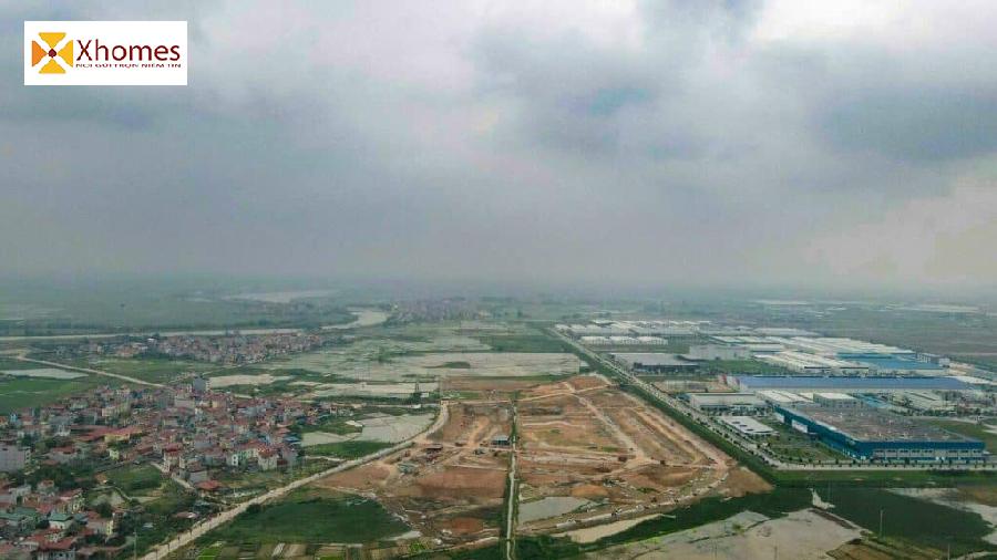Hình ảnh Flycam tổng thể Dự án An Bình Central Park Vọng Đông