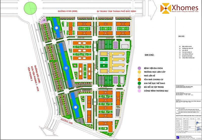 Mặt bằng phân lô dự án Cát Tường Smart City Khu Công Nghiệp Yên Phong
