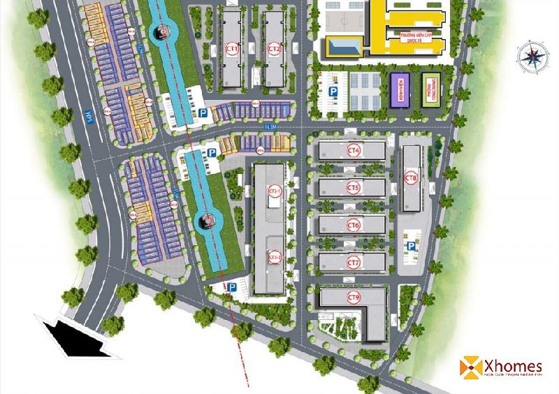 Mặt bằng phân lô Shophouse dự án Cát Tường Smart City KCN Yên Phong
