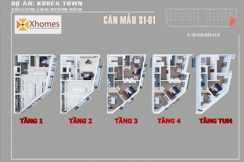Thiết kế phối cảnh của ShopHouse Korea Town