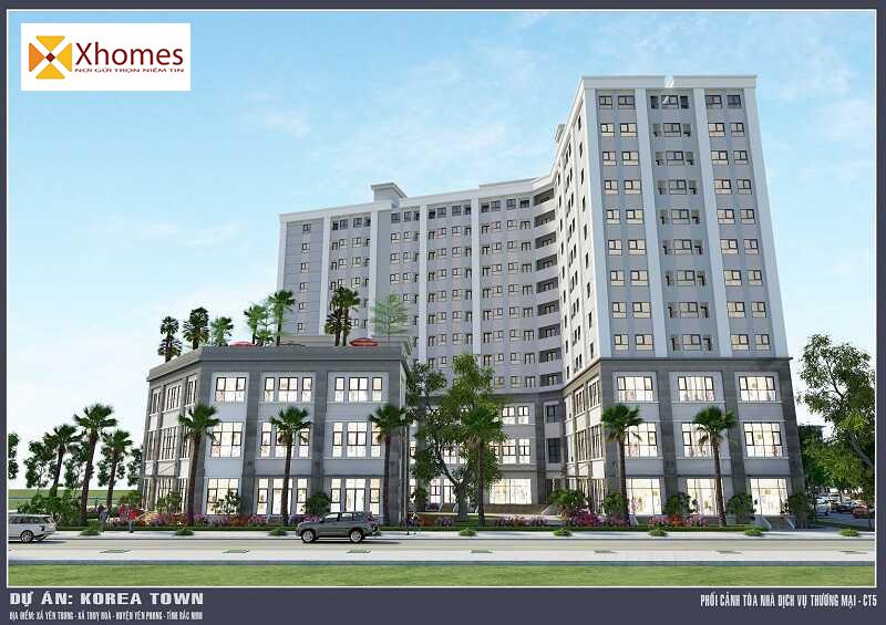 Giá bán Shophouse Dự án Korea Town Yên Phong tư 13 – 33 triệu/m2