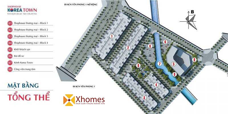 Shophouse Korea Town Yên Phong - Bắc Ninh đang thu hút nhiều nhà đầu tư