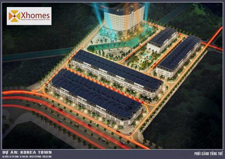 Phối cảnh tổng thể dự án Korea Town Yên Phong Bắc Ninh