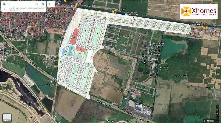 Mặt bằng tổng thể dự án trên Google Maps