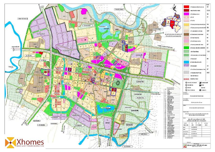 Bản đồ quy hoạch không gian huyện Yên Phong Bắc Ninh