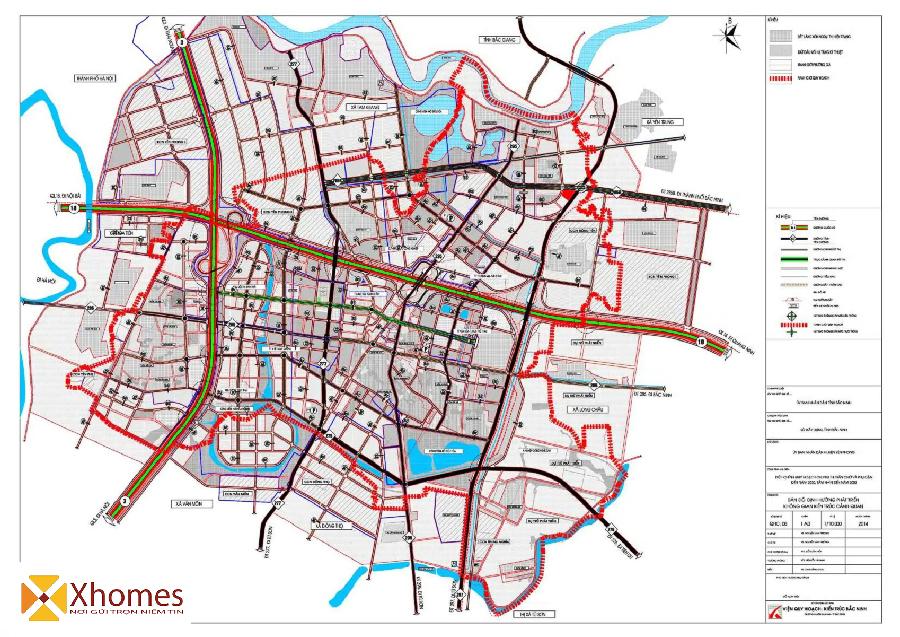 Bản đồ quy hoạch giao thông huyện Yên Phong Bắc Ninh