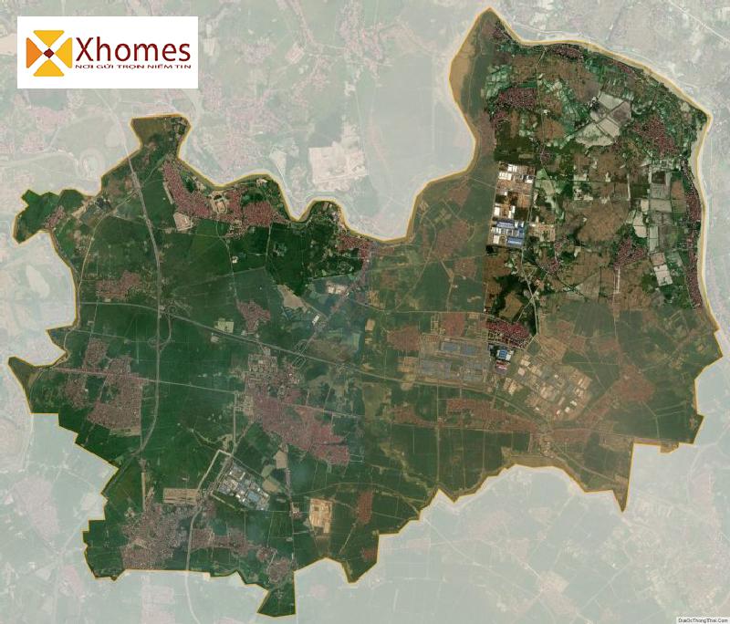 Sơ đồ huyện Yên Phong Bắc Ninh nhìn từ vệ tinh