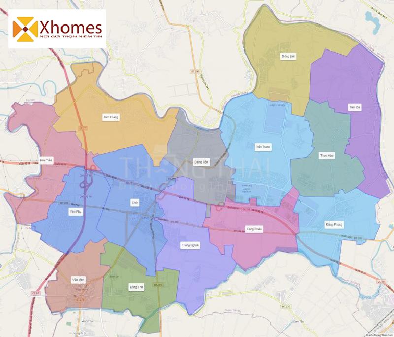 Hình ảnh bản đồ quy hoạch bất động sản huyện Yên Phong Bắc Ninh