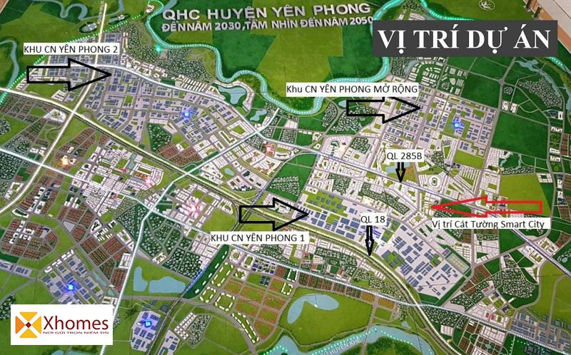 Vị trí đắc địa Dự án Cat Tường Smart City