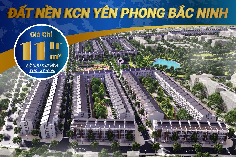 Đất nền đầu tư giá chỉ từ 12tr/m2 tại Yên Phong Bắc Ninh