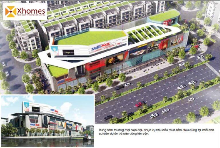Trung tâm thương mại và các tiện ích công cộng phục vụ dân cư của dự án