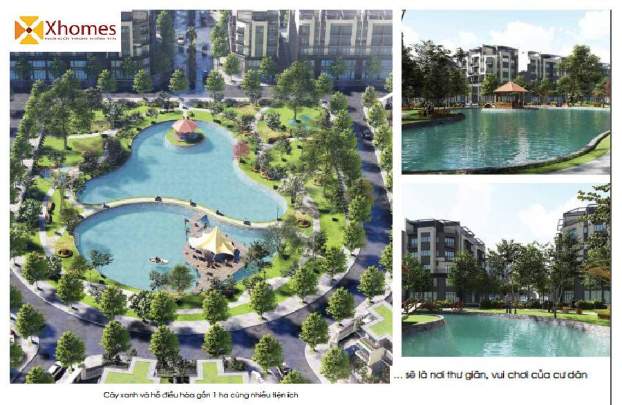 Hệ thống viên cây xanh hồ điền hòa đăng cấp tại dự án AMDI Green City