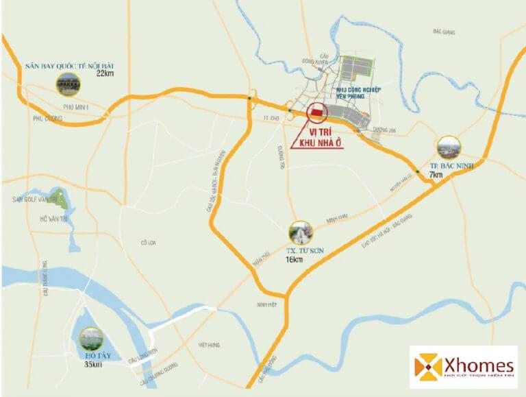 """Vị trí """"đắc địa"""" dự án Viglacera Đông Tiến - Yên Phong - Bắc Ninh"""