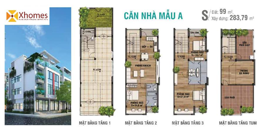 Mẫu thiết kế của dự án KĐT Viglacera Đông Tiến Yên Phong