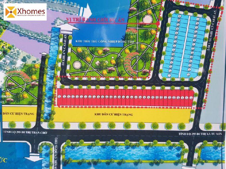 Vị trí thuận lợi của dự án Khu Đô Thị Đông Thọ Yên Phong Bắc Ninh