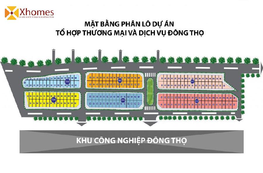 Mặt bằng tổng thể Khu Đô Thị Đông Thọ Yên Phong Bắc Ninh