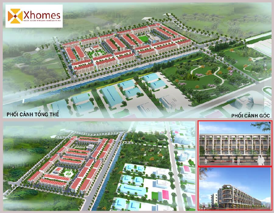 Phối cảnh tổng thể dự án Khu Đô Thị Dũng Liệt Green City