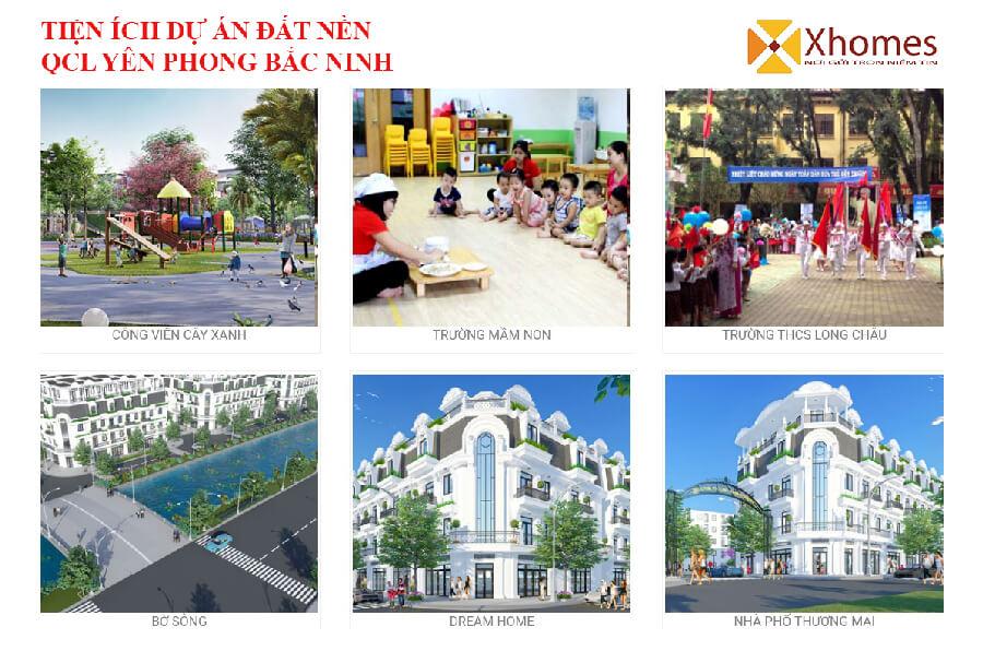 Tổ hợp tiện ích hướng đến môi trường xanh dự án KĐT QCL Yên Phong