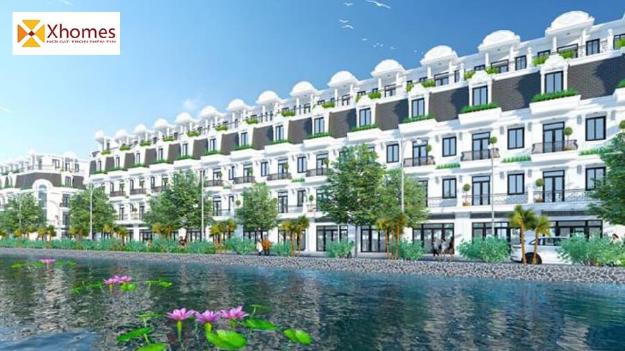 Phối cảnh liền kề dự án KĐT QCL Yên Phong Bắc Ninh