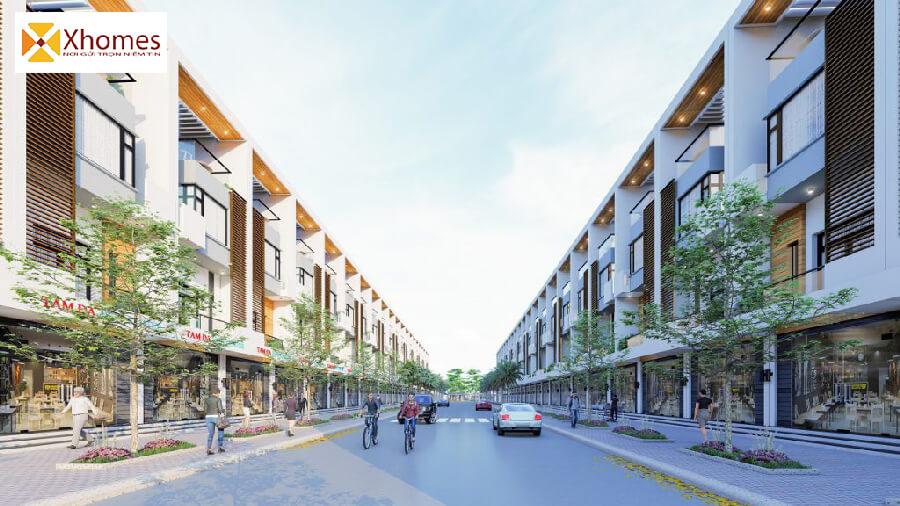 Mặt bằng dự án đất nền Tam Đa New Center Bắc Ninh
