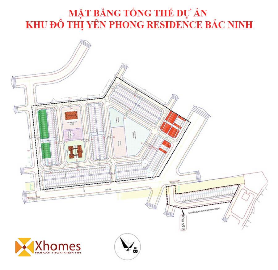 Mặt bằng thiết kế dự án KĐT Yên Phong Risidence Bắc Ninh