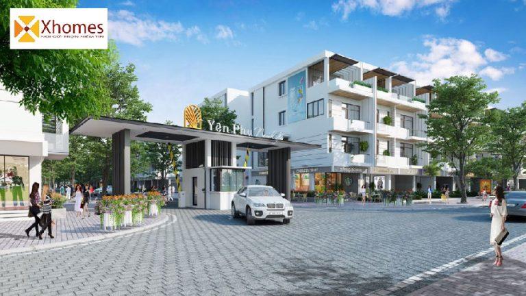 Cổng vào dự án Khu Đô Thị Yên Phụ New Life Bắc Ninh