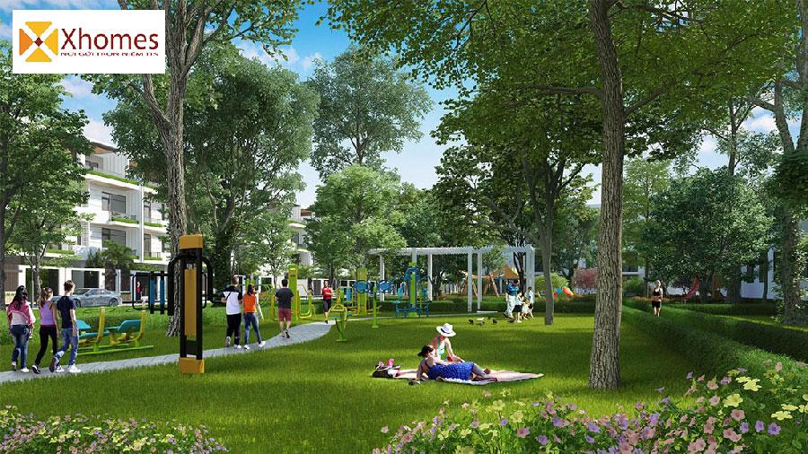 Công viên cây xanh Khu Đô Thị Yên Phụ New Life Yên Phong
