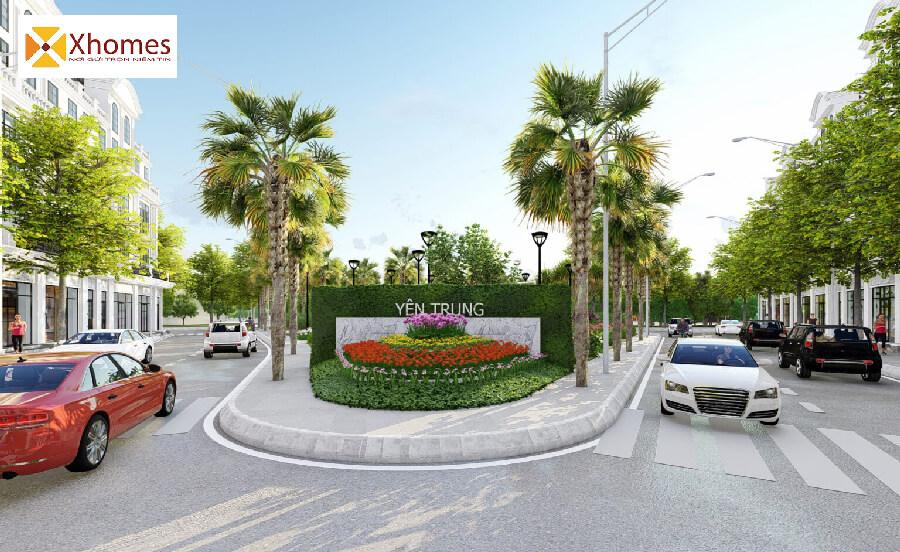 Tiện ích phủ xanh dự án Yên Trung Residence Bắc Ninh