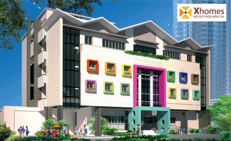 Hệ thống trường học liên cấp có trong dự án KĐT Palm Chí Linh Hải Dương