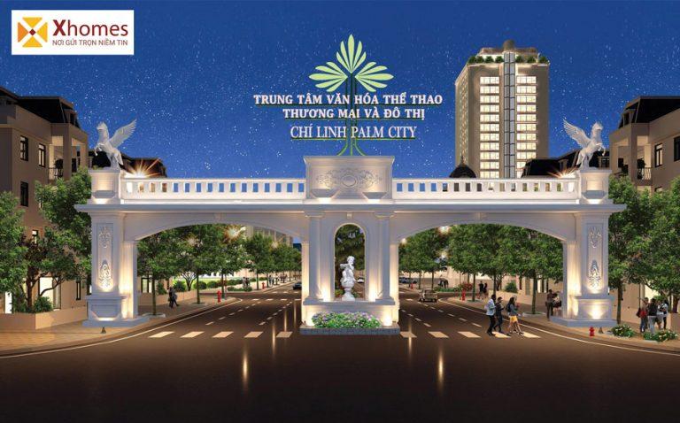 Cổng chào dự án khi đô thị Chí Linh Palm Palace Hải Dương