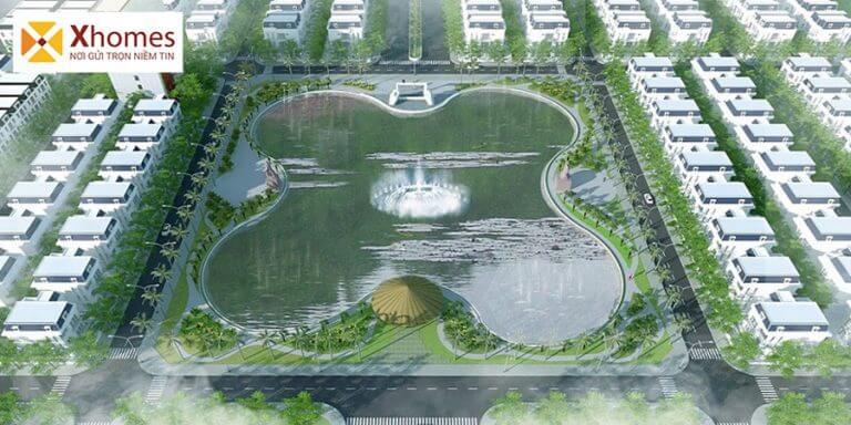 Phối cảnh hồ điều hòa dự án khu đô thị xanh Chí Linh Palm