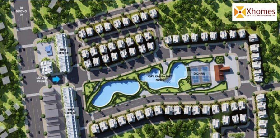 Phối cảnh tổng thể dự án Dabaco Lạc Vệ Tiên Du Bắc Ninh