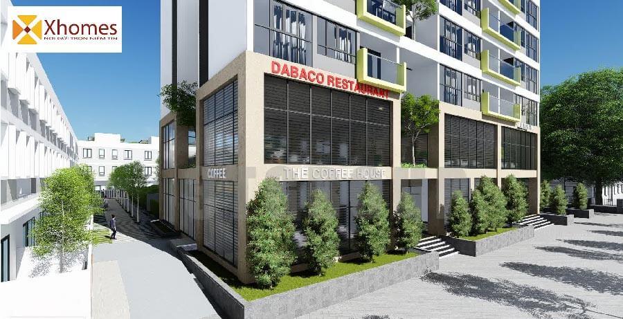 """Khu trung tầm thương mại """"sầm uất"""" tại dự án Dabaco Lạc Vệ"""