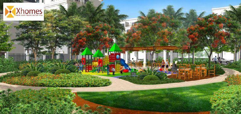 Phối cảnh công viên cây xanh dự án Diamond City Thị Trấn Chờ