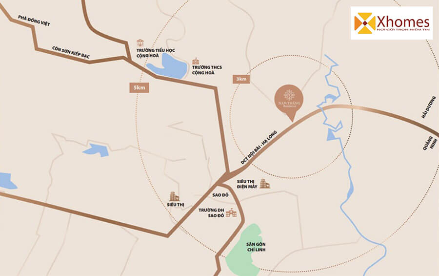 Liên kết vùng tại dự án Nam Thắng Residence Chí Linh Hải Dương
