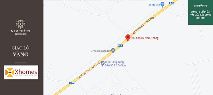 Vị trí đắc địa của dự án đất nền Nam Thắng Residence Chí Linh