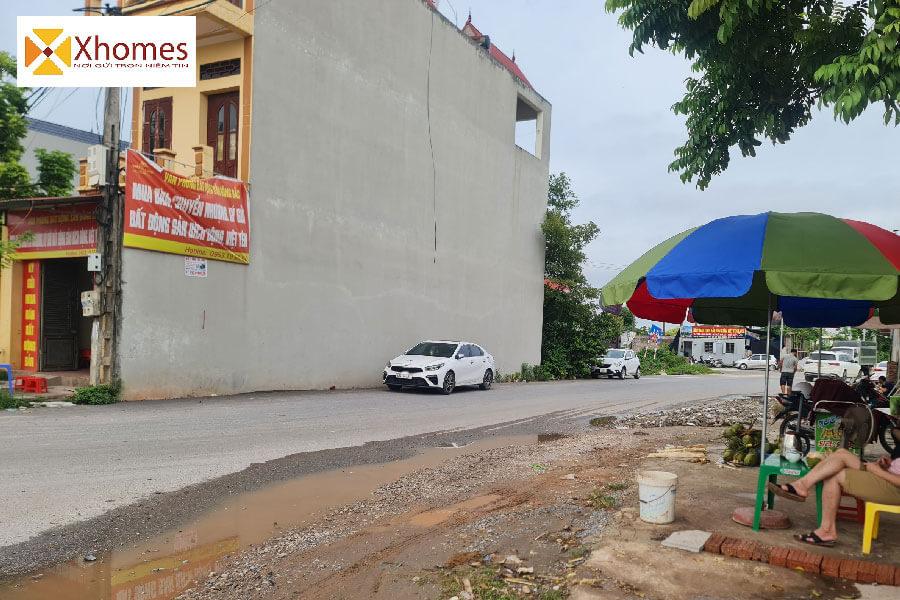 Lối vào dự án Hoàng Long Bích Động tại Viêt Yên Bắc Giang