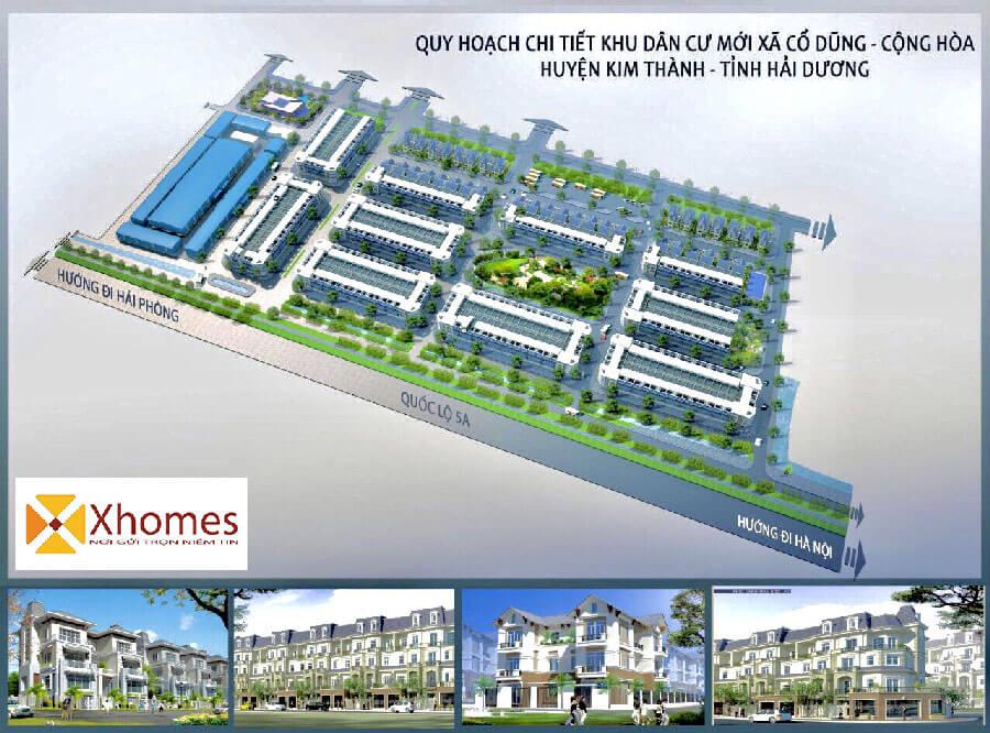 Phối cảnh tổng thể khu đô thị mới Cổ Dũng Kim Thành, tỉnh Hải Dương