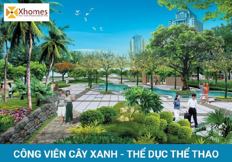 Công viên cây xanh thoáng mát cho những người yêu thích thể dục thể thao và ngắm cảnh