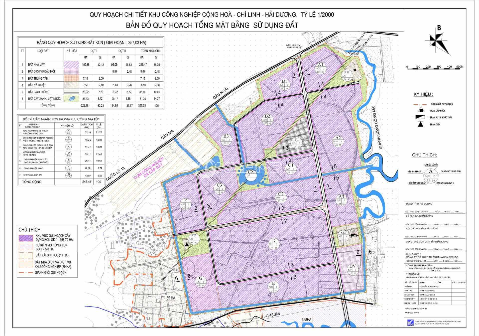 Bản đồ quy hoạch sử dụng đất tại LCN Cộng Hòa Chí Linh Hải Dương