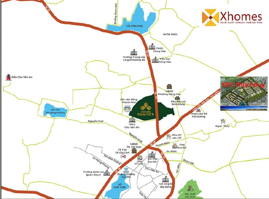 Liên kết nội khu của dự án Phía Đông Chí Linh, tỉnh Hải Dương