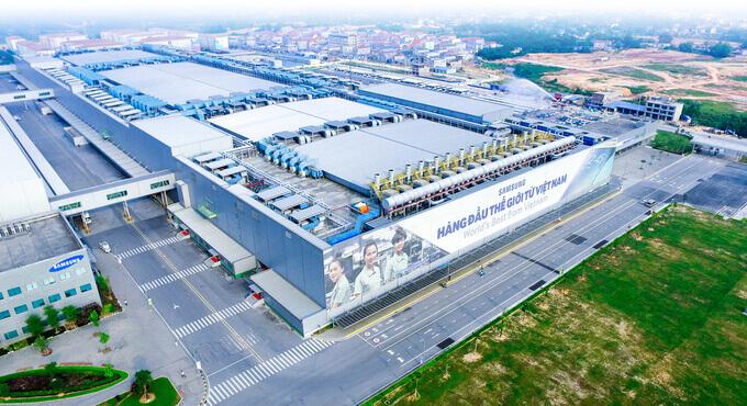 Nhà máy màn hình của Samsung tại kcn Yên Phong - Bắc Ninh