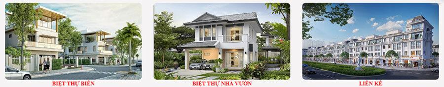 Sản phẩm dự án Hùng Sơn Villa Nam Sầm Sơn – Thanh Hóa