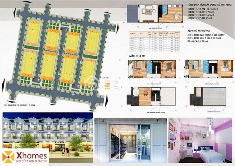 Mẫu liền kề M1 dự án DTA Garden House VSIP Từ Sơn Bắc Ninh