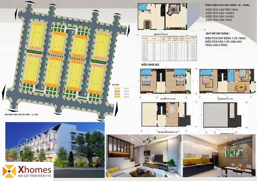Mẫu liền kề M2 dự án DTA Garden House VSIP Từ Sơn Bắc Ninh