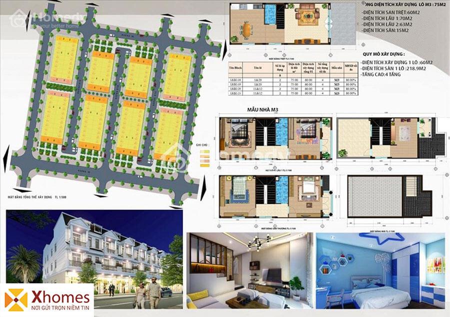 Mẫu liền kề M3 dự án DTA Garden House VSIP Từ Sơn Bắc Ninh